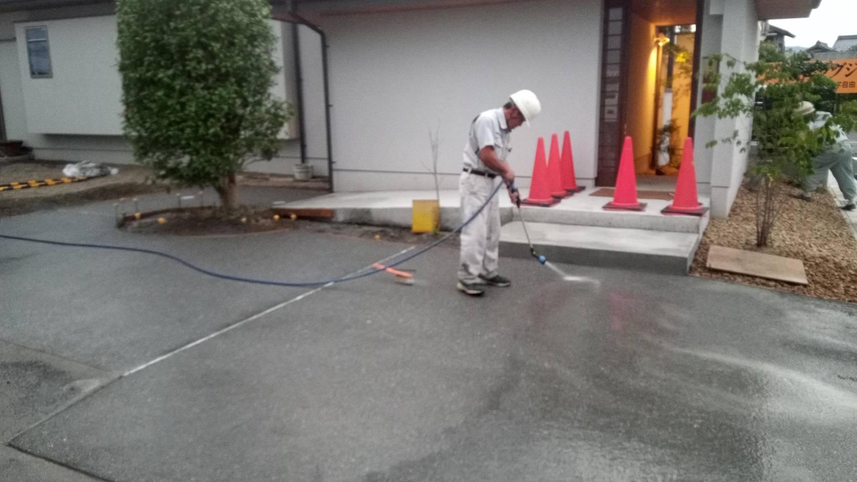 土間洗い出し工事